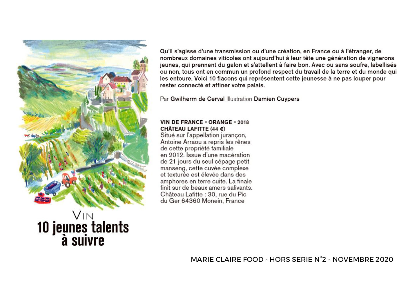 Marie Claire Food Chateau Lafitte